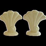Vintage Pair of Red Wings Vases