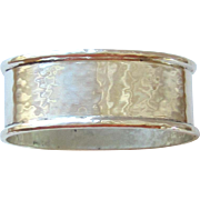 VINtAGE STERLING SILVER OVAL NAPKIN RING - SHREVE & CO.