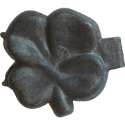 Antique E & Co Pewter Shamrock Ice Cream Mold