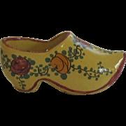 Miniature Vintage Porcelain Dutch Shoe-France