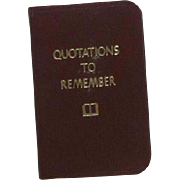 "Vintage Miniature Book ""Quotations To Remember"""