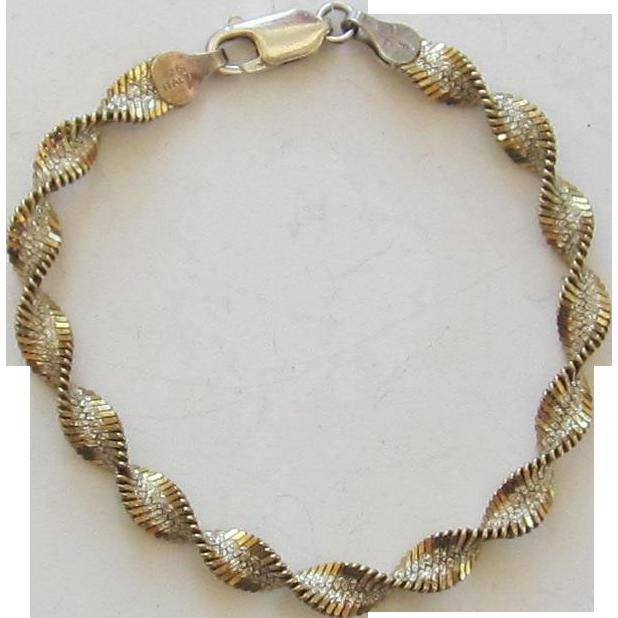 Vintage Twisted Sterling Silver Bracelet