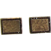 Vintage Sterling Silver, Gold Overlay, Cuff Links