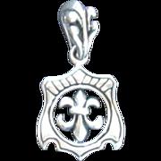 Sterling Silver Fleur De Lys Pendant