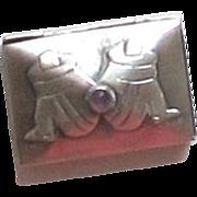 Vintage Sterling Silver Pill Box, Snuff Box - los Ballosteros