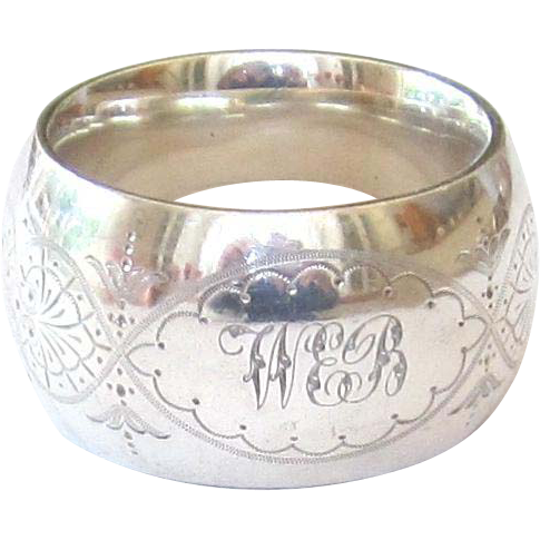 antique sterling silver pierced napkin ring uk