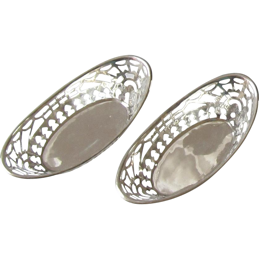 Pair of Sterling Silver Nut Cups