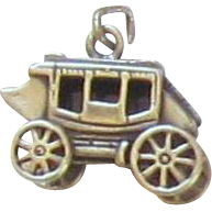 Vintage Sterling Silver STAGECOACH Charm