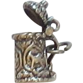 Sterling Silver BEER STEIN Charm - BEAU
