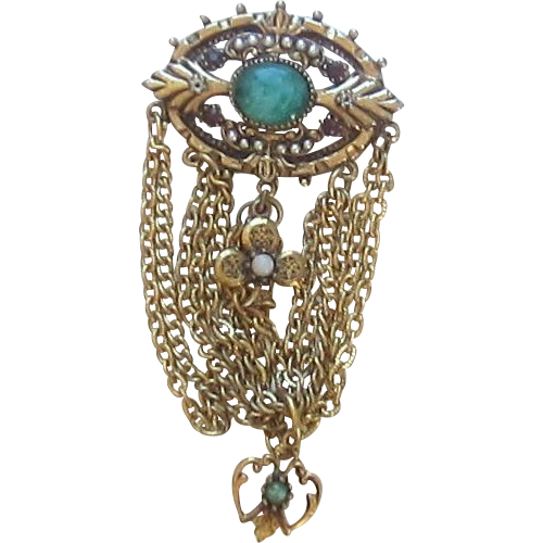 "Vintage ""ART"" Victorian, Large Revival Brooch"