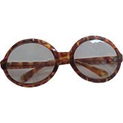 Faux Tortoise Shell Large Glasses/Sunglasses - Italy