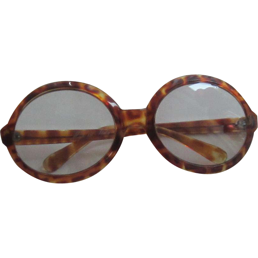 Faux Tortoise Shell Large Glasses/Sunglasses - Italy from ...