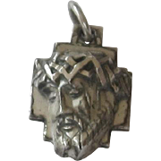 Sterling Silver Crown of Thorns Religious Medal