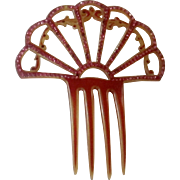 Celluloid Hair Comb with Sparkle
