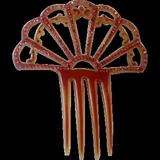 Celluloid Hair Comb with Sparkle