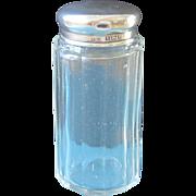 Sterling, Glass, Vanity Jar