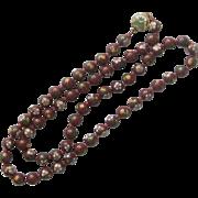 Cloisonne' Bead, Enamel Clasp Necklace