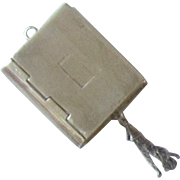 Sterling Silver Pendant, Hinged Box with Tassel