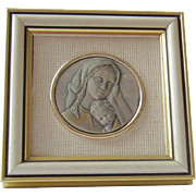 Silver Blessed Mother and Child Framed