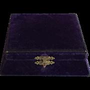 Vintage Velvet Jewelry Box, Silk Lining