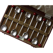 Vintage Set of Eight Silver Plate Demi Spoons / Stirrers / England