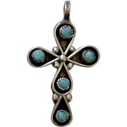 Turquoise and Sterling Silver Cross
