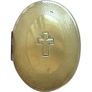 10 K Gold Filled Religious Case with Cross Inside