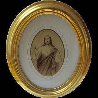 Framed Print of Sacred Heart