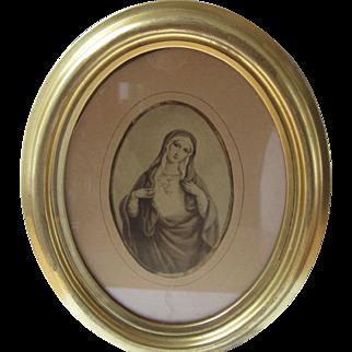 Framed Print of Blessed Mother