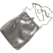 Lovely Silver Metal Evening Bag  - Lumured- Made in U.S.A.