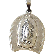 Sterling Silver Religious Medal Madonna / Blessed Mother