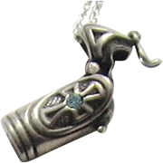 Sterling Silver Pendant / Charm Vessel for Holy Water
