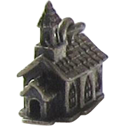 Vintage Sterling Silver Beau Charm, Church with Steeple