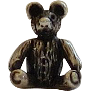 Vintage Sterling Silver Petite Teddy Bear Pendant or charm - Made in Italy