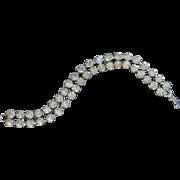 Vintage Weiss Rhinestone Bracelet