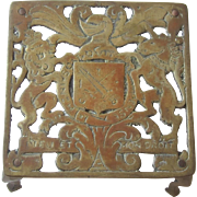 Antique Brass Trivet, England