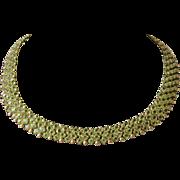 14K, Peridot Collar Necklace