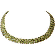14K, Peridot Collar Necklace