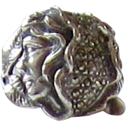 Sterling Silver, Marcasite Ring - Size 7