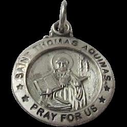 Sterling Silver St.Thomas Aquinas Medal