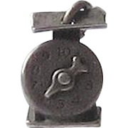 Vintage Sterling Silver Charm - Baby Scale