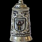 Sterling Silver, Enamel Beer Stein Charm