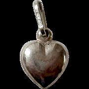 Petite Sterling Silver Heart Charm,Pendant
