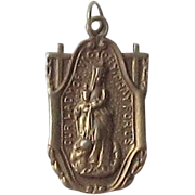 Brass Religious Medal - Our Lady of Victory Shrine, Basilica