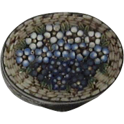 Vintage Italian Mosaic Oval Pill Box