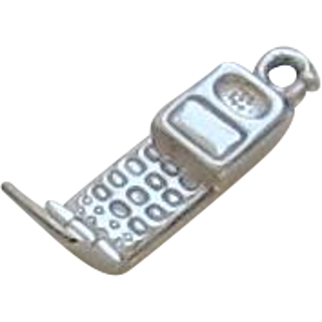 Sterling Silver Vintage Cell Phone