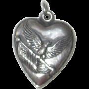 Vintage Sterling Silver Patriotic Charm