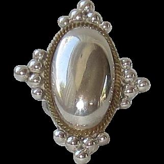 Large Vintage Sterling Silver Statement Ring