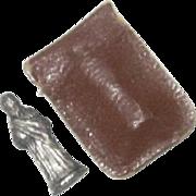 Mini Sacred Heart Statue in Leather Case