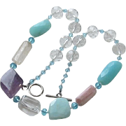 Glass Bead Crystal Necklace